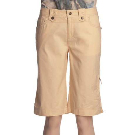 Ojai Summer Bermuda Shorts - Stretch Cotton (For Women)