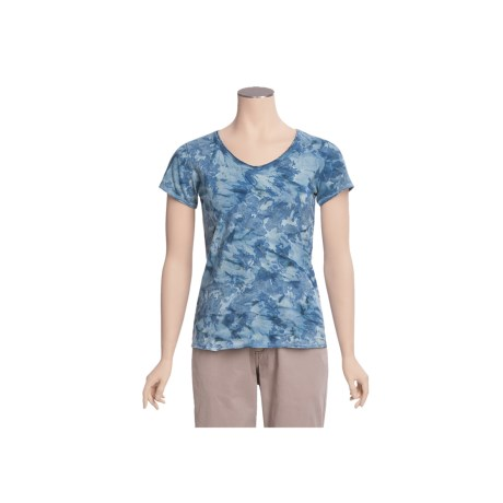 Ojai Tie-Dye V-Neck Shirt - Short Sleeve (For Women)