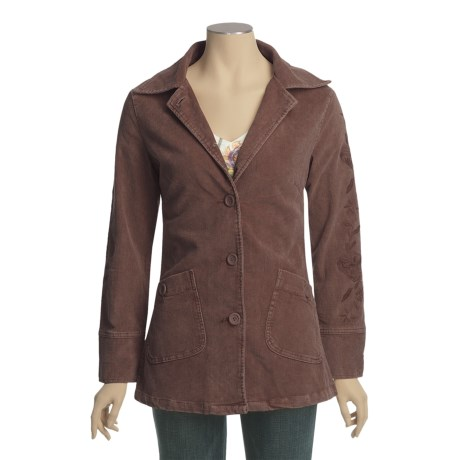 Ojai Snow-Washed Corduroy Barn Jacket (For Women)