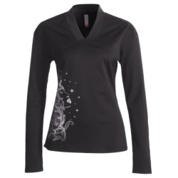 Skirt Sports Happy Hour V-Neck Shirt - Long Sleeve (For Women)