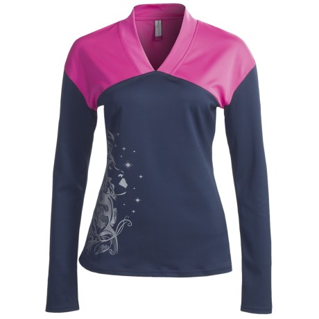 Skirt Sports Happy Hour V-Neck Shirt - Long Sleeve (For Women)
