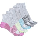 Copper Fit Half-Cushion Socks - 5-Pack, Ankle (For Women)