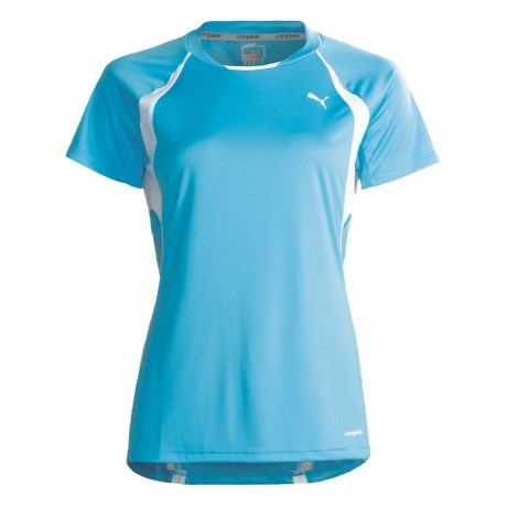 Puma Complete Running T-Shirt - Crew Neck, Short Sleeve (For Women)