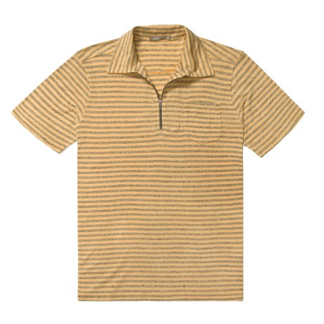 Agave Denim Tsunami Stripe Jersey Zip Polo Shirt - Short Sleeve (For Men)