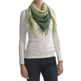 Asian Eye Hipster Ombre Scarf - Rivet Trimmed (For Women)