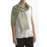 Asian Eye Hana Silk Jacquard Scarf (For Women)
