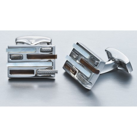 Tateossian 3D Brick Cufflinks - Mother-of-Pearl (For Men)