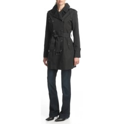 Cole Haan Taffeta Hooded Trench Coat (For Women)