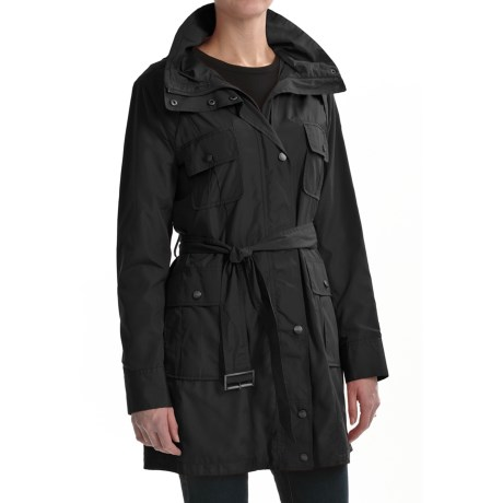 Cole Haan Outerwear City Trench Coat - Packable Hood (For Women)