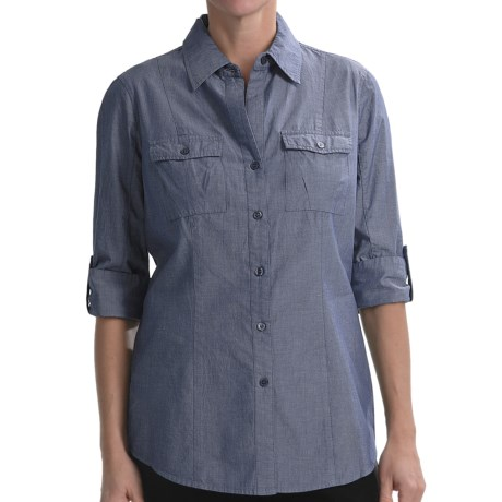 Nexx Chambray Cotton Tunic - Elbow Sleeve (For Women)