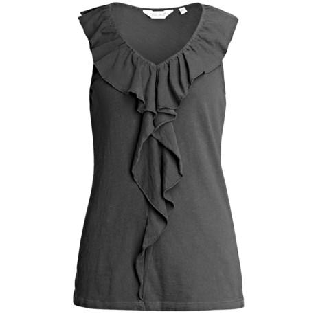 True Grit Ruffle Tank Top - Slub Jersey Cotton (For Women)