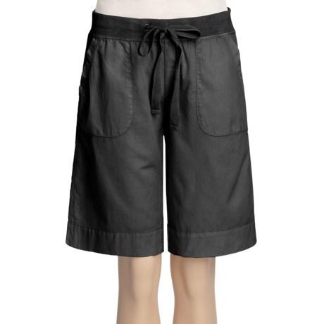 True Grit Drawstring Cargo Shorts - Cotton Canvas (For Women)
