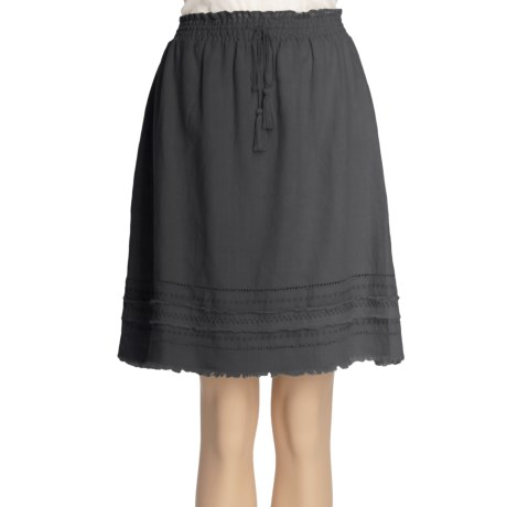 True Grit Smock Stitched Skirt - Cotton-Linen (For Women)