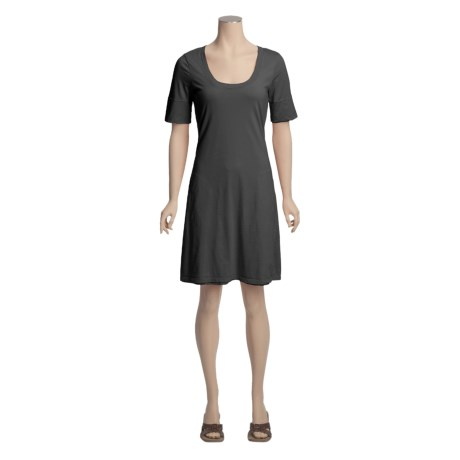 True Grit Double-Layer Dress - Single-Knit Cotton, Short Sleeve (For Women)