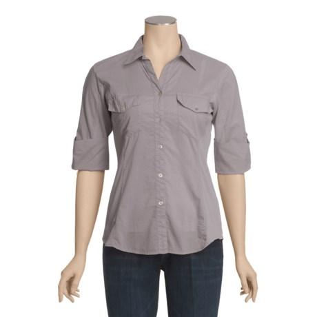 True Grit Cotton Voile Shirt - 3/4 Sleeve (For Women)