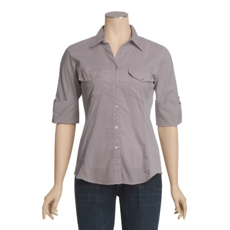 True Grit Cotton Voile Shirt - 3/4 Sleeve (For Women)