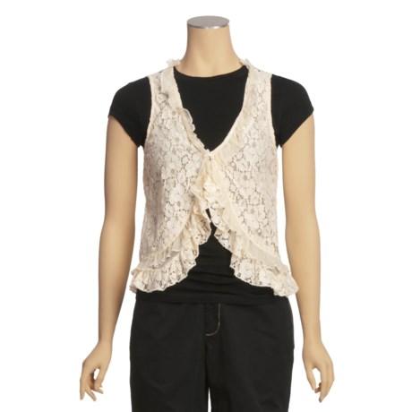 True Grit Vintage Lace Vest (For Women)