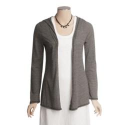 True Grit Supreme Microstripe Cardigan Sweater - Hooded (For Women)