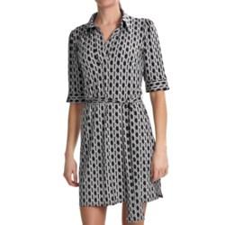 Laundry by Design Matte Jersey Dress - Trellis Print, Elbow Sleeve (For Women)