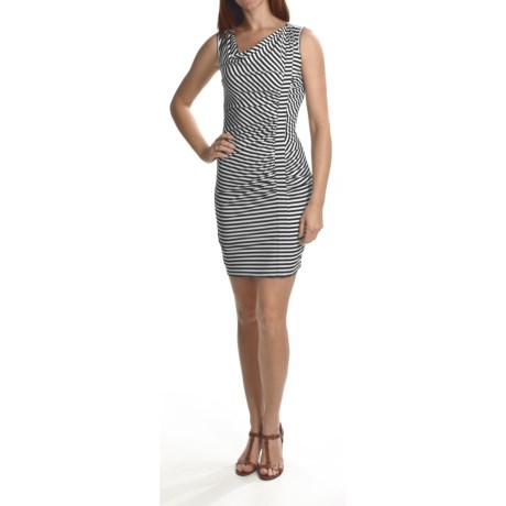 Laundry by Design Striped Matte Jersey Dress - Stretch, Sleeveless (For Women)