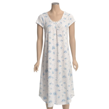 Carole Hochman Floral Nightgown - Short Sleeve (For Women)
