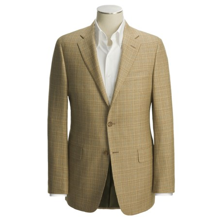 Hickey Freeman Tan Glen Plaid Sport Coat - Wool-Silk (For Men)