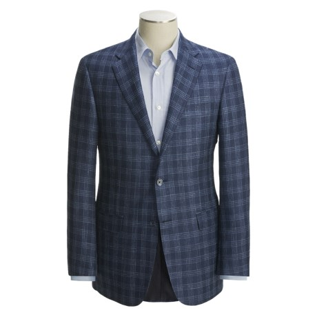 Hickey Freeman Plaid Sport Coat - Silk-Linen-Wool (For Men)