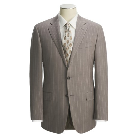 Hickey Freeman Wool Suit - Wide Stripe (For Men)