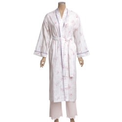 Diamond Tea Cotton Voile Robe (For Women)