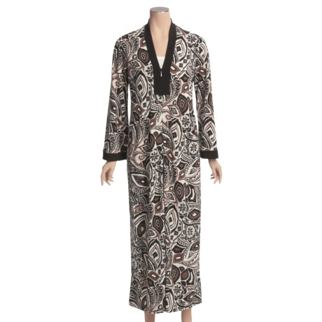 Diamond Tea Stretch Jersey Print Robe (For Women)