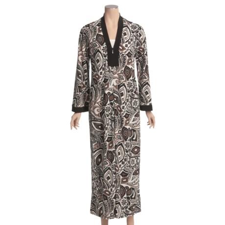 Diamond Tea Stretch Jersey Print Robe (For Women)