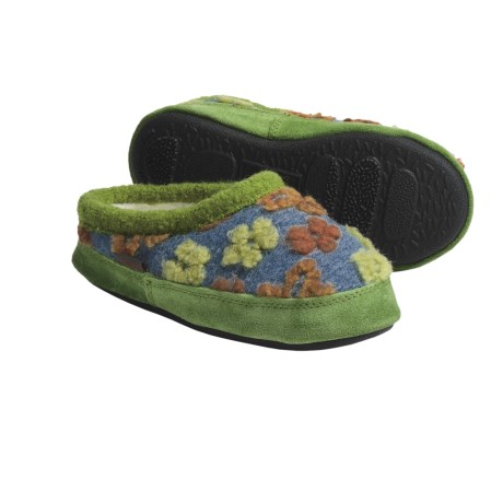 Acorn Daisy Mule Slippers (For Little Girls)