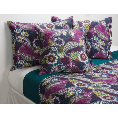 """Ivy Hill Home Colonial Floral Paisley Toss Pillow - 20x20"""""""