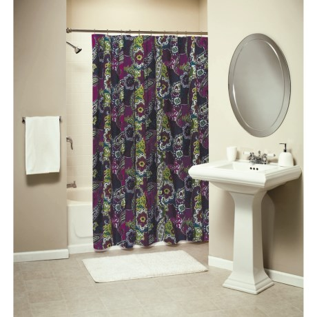 Ivy Hill Home Colonial Floral Paisley Shower Curtain - Cotton