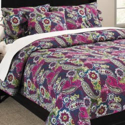 Ivy Hill Home Colonial Floral Paisley Cotton Quilt and Sham Set - Twin