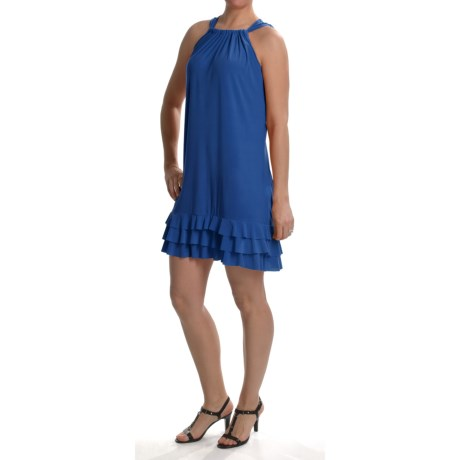 Anna Lee and Hope by Tiana B Tiered Ruffle Hem Dress - Stretch Jersey, Sleeveless (For Women)