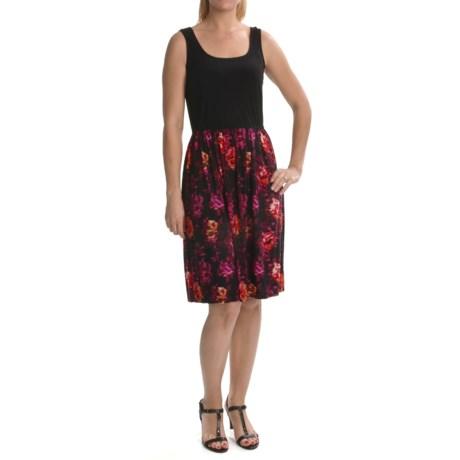 Tiana B Printed Skirt Jersey Tank Dress - Sleeveless (For Women)