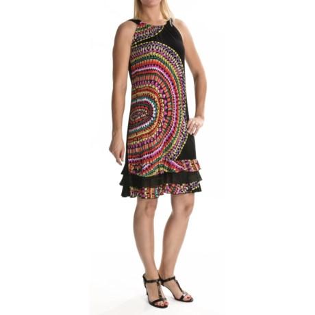Tiana B Printed Jersey Dress - Ruffle Hem, Sleeveless (For Women)