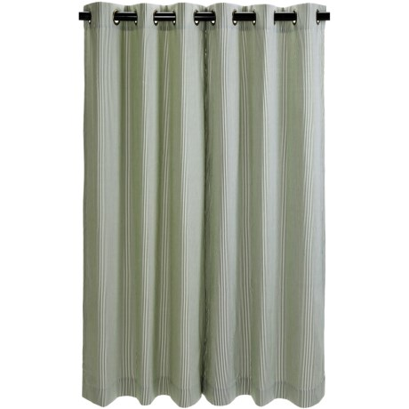 "Commonwealth Home Fashions Thermalogic Weathermate Laundry Stripe Curtains - 84"", Insulated, Grommet-Top"