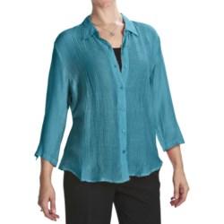 Casual Studio Silk Blend Shirt - 3/4 Sleeve (For Women)