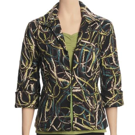 Casual Studio Yarn-Embellished Jacket (For Women)