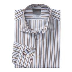 Thomas Dean Cotton Sport Shirt - Two-Button Band Spread Collar, Long Sleeve (For Men)