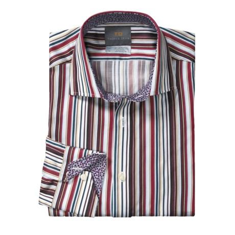 Thomas Dean Spread Collar Sport Shirt - Cotton, Long Sleeve (For Men)