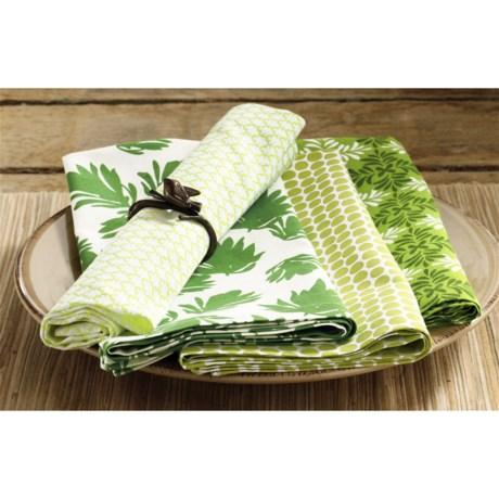 Tag Green Garden Napkins - Set of 8