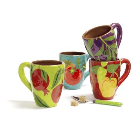 Beautiful Mugs Tag Jardin Terracotta Hand Painted Mugs