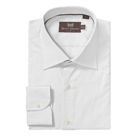Hickey Freeman Solid Dress Shirt - Long Sleeve (For Men)