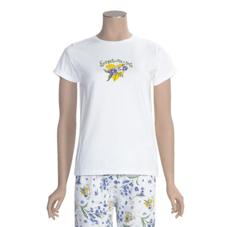 Toast and Jammies Crew Neck T-Shirt - Short Sleeve (For Women)