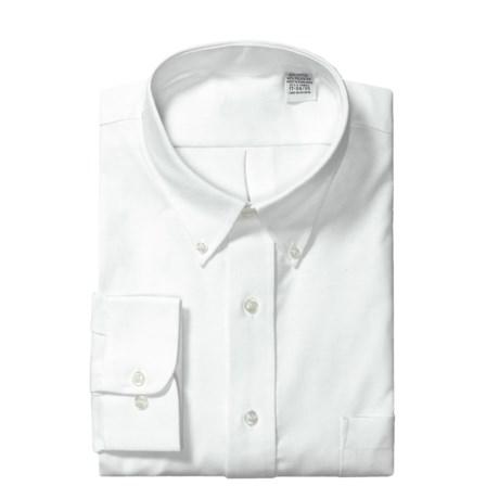 Cotton Blend Dress Shirt - Long Sleeve (For Men)