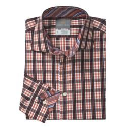 Thomas Dean Check Windowpane Sport Shirt - Spread Collar, Long Sleeve (For Men)