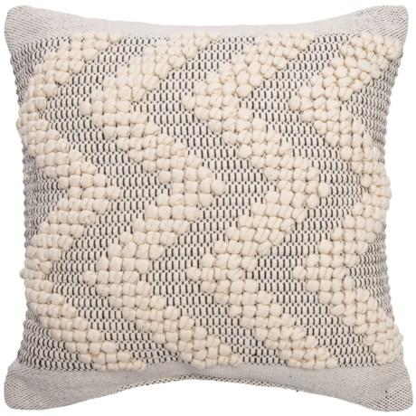 """Devi Ernesto Textured Chevron Throw Pillow - 20x20"""""""